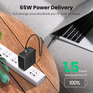 Image 4 - Ugreen PD 65W Charger GaN USB Type C Charger for Apple MacBook Air iPad Pro Samsung Tablet Fast Charger for Nintendo Switch