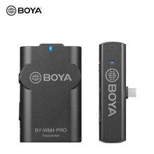 BOYA BY WM4 Mark II BY WM4 PRO K3 K5 2.4GHz kablosuz mikrofon sistemi akıllı telefonlar Video iOS Android için Mic tabletler dizüstü bilgisayarlar