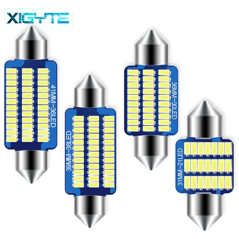 Car Accessories C5W C10W 31/36/39/41MM 3014 21/30/36Led Interior Reading Light 36 SMD Clearance Bulbs Auto Plate Lamp White 12V