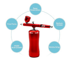 Mini Airbrush compressor Smart Kit Oxygen Infusion Apparatus Dual Action Pen Sunless Tanning Temporary Tattoo Spray Paint Tools