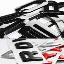 For LAND RANGE ROVER SPORT VELAR SV Edition Glossy Black Matte Silver Top ABS Emblem Car Styling Hood Trunk Letters Logo Sticker