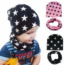 2 шт./компл. Демисезонный; шапка и шарф для малышей однотонные кепки для мальчиков и девочек, хлопок, вязаная детская Шапка-бини шарфы