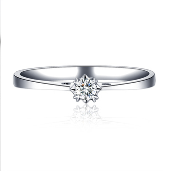1 Carat Diamond Ring Genuine 18k White Gold Platinum Rose Gold Couple Married To Marry Diamond Ring 1