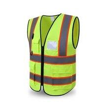 Светоотражающий жилет высокая видимость Мульти Карманный Защитное снаряжение наружный предохранительный бак верхняя конструкция защита внешняя одежда