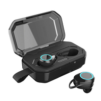 Deep Bass Stereo Accessories Battery Operated Charging Box True Waterproof Cap Bluetooth Earphone Car Wireless Earbuds Twins