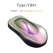 YB81 Chameleon Pigments Acrylic Paints Pearl Powder Coating for Cars Automotive Painting Decoration Arts Crafts Nails 10g