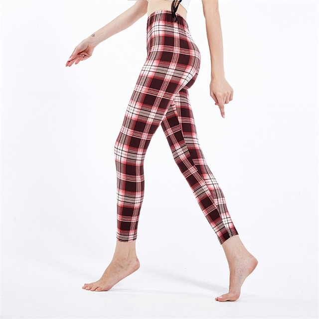 Plaid Check Leggings 4