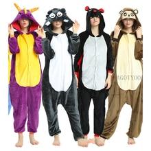 Wolf Unisex Onesies Erwachsene Tier Einhorn Spyro Pyjamas Anzug Warme Weiche Stich Nachtwäsche Onepiece Winter Overall Cosplay Kostüme