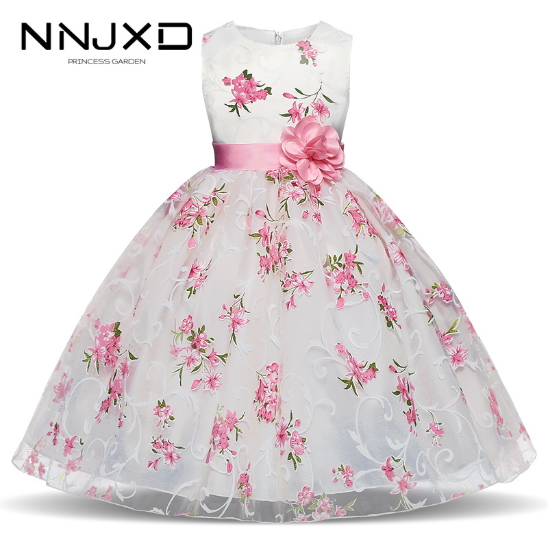 Floral Tutu Dress For Girls Dresses Kids Clothes Wedding Events Flower Girl Dress Birthday Party Costumes Children Clothing 8T|Dresses|   - AliExpress