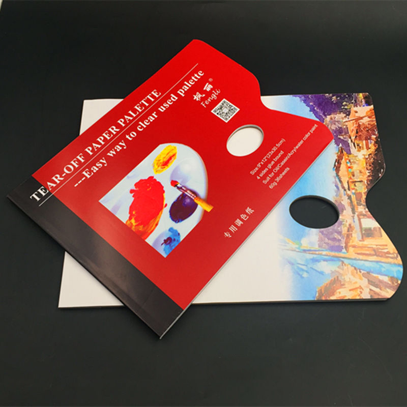 A4/8K Disposable Tear-Off Palette Paper Paint Palette Paper Pad For Artist Gouache Acrylic Oil Painting Watercolor Art Supplies