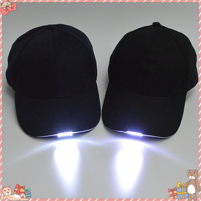 5 LED Lighted Cap Hat Outdoor Fishing Running Hat Flash Men Women Camping Climbing Caps Camouflage Hats For Party