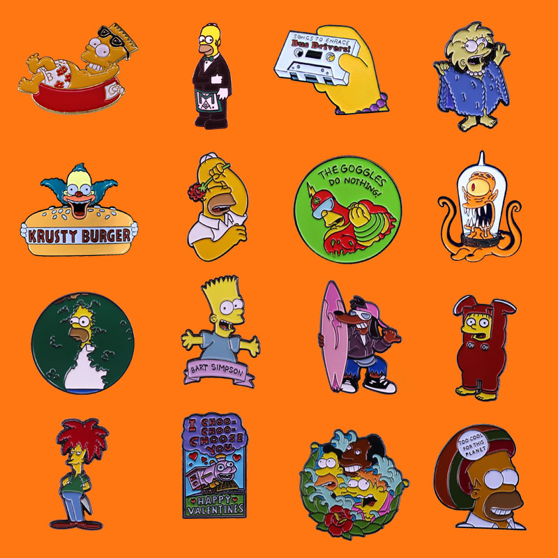 Забавный анимационный фильм эмаль на булавке милый металлический брошка мультфильм рюкзак шапку свободный воротник нагрудные значки для м...