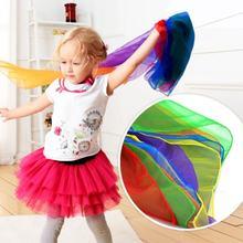 1 шт 6 цветов детские шарфы для гимнастики игрушка игр на открытом