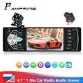 Автомагнитола AMPrime 4022D 4,1 дюйма, 1 Din, автомагнитола, стереомагнитола, Bluetooth, камера, USB, рулевое колесо, дистанционное управление, автомобильны...