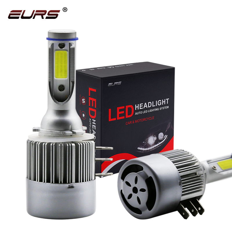 EURS Car H15 LED Light Bulb Car Headlight 12V Conversion Driving Light H1 H3 H4 H7 H11 9005 9006 9004 9007 9012 Auto Headlamp