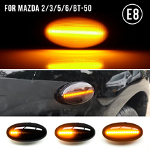 2 Pieces For MAZDA 3 For MAZDA 2 5 MPV Smoke Led Dynamic Side Marker Turn Signal Light Sequential Blinker Light Led Auto Lamp
