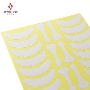 Image 2 - 700 Pairs Onder Eye Pads Wimper Oefeningen Oog Stickers Papier Pluizende Met Vorm Bone Wimpers Patch