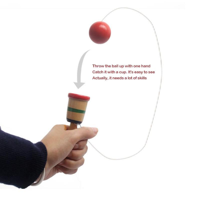 Wooden Skill Sword Cup Ball Games Toy Kids Children Montessori Traditional Educational Outdoor Funny Toys For Children Gifts