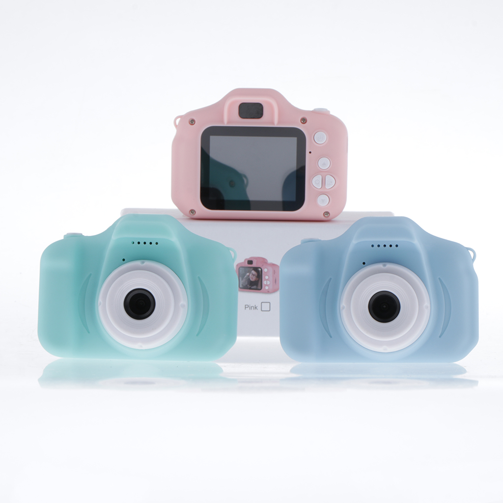 Action Digital Camera Mini Digital Camera Toys for Kids 2 Inch HD Screen Chargable Photography Props Cute Child Birthday Gift