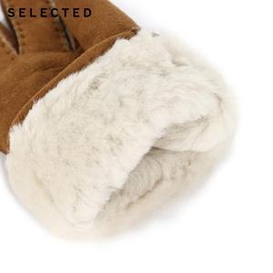 Image 3 - GESELECTEERD mannen Pure Kleur Wollen Lederen Handschoenen EEN