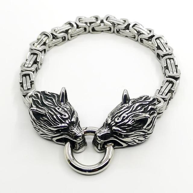 Bracelet loup  acier empereur  1