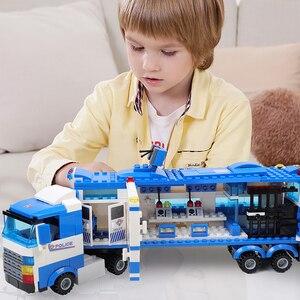 Image 4 - 1122 pcs SWAT עיר משטרת סדרת אבני בניין רכב מסוק עיר משטרת Staction DIY לבנים תואם עם LegoED בלוק משחק תפקידים דמויות פעולה צעצועים לילדים