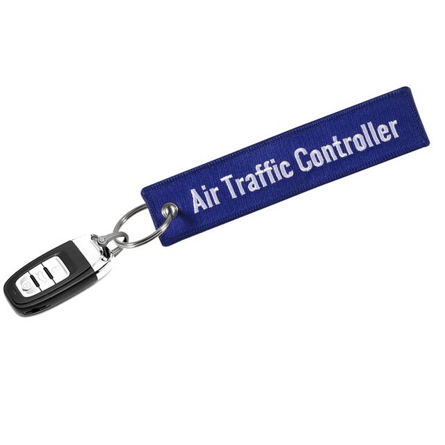Air Traffic Controller Keychain for Avaition key chain blue emboridery customize key ring chain key tags Fashion Jewelry llavero