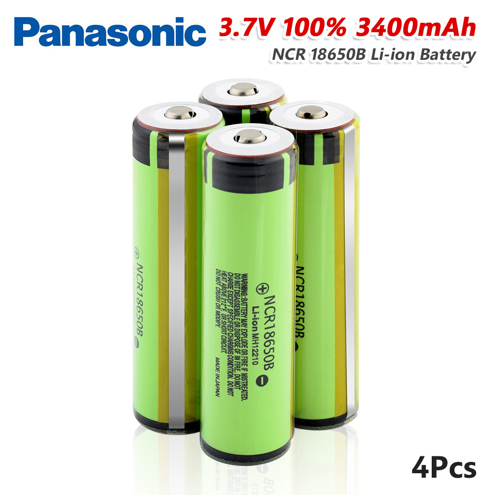 <font><b>Panasonic</b></font> NCR 18650B Protected NCR18650 3400mah Li-ion Rechargeable <font><b>18650</b></font> battery 3.7V with Pointed+PCB For Flashlight batteries image