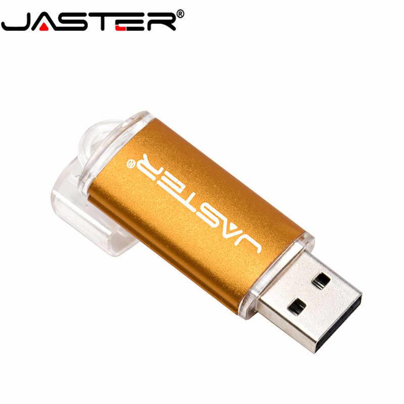 JASTER mini kalem sürücü USB Flash sürücü 4gb 8gb 16gb 32gb 64gb 128gb pendrive metal usb 2.0 flash sürücü bellek kartı Usb sopa