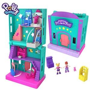 Image 5 - מקורי פולי Pocket מיני פולי קטן תיבת חנות בנות רכב צעצועי עולם מיני סצנת צעצוע מתנת ילדה בובת בית אבזרים juguetes