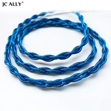 JCALLY Bold 4 Core Blue OFC Silver Plated Earphone Upgrade Cable 0.78 0.75 MMCX A2DC IE for KZ ZSX TFZ T2 ZSNPRO ZS10PRO CCA C12
