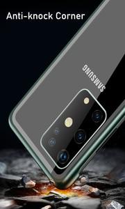 Image 5 - S20 Ultra Fall Zurück Protector Gehärtetem Glas Abdeckung Für Samsung S20 S20 Plus Coque Stoßfest Metall Stoßstange Telefon Shell S20 ultra