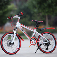 자전거 산악 자전거 24 인치 21 속도 속도 충격 흡수기 디스크 브레이크 성인 어린이 자전거 도로 자전거