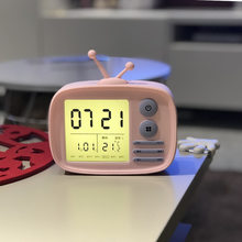 LED réveil veilleuse numérique électronique Multi fonction température horloge décoration de la maison Table Snoozing lumière horloge