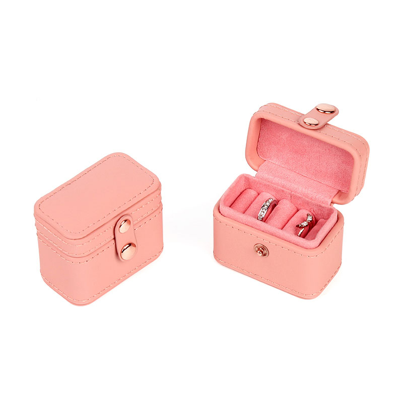 Pink Mini PU Leather Jewelry Case,Ring Box Storage Box, Portable Jewelry Box,fashion Jewelry Box,gift Case