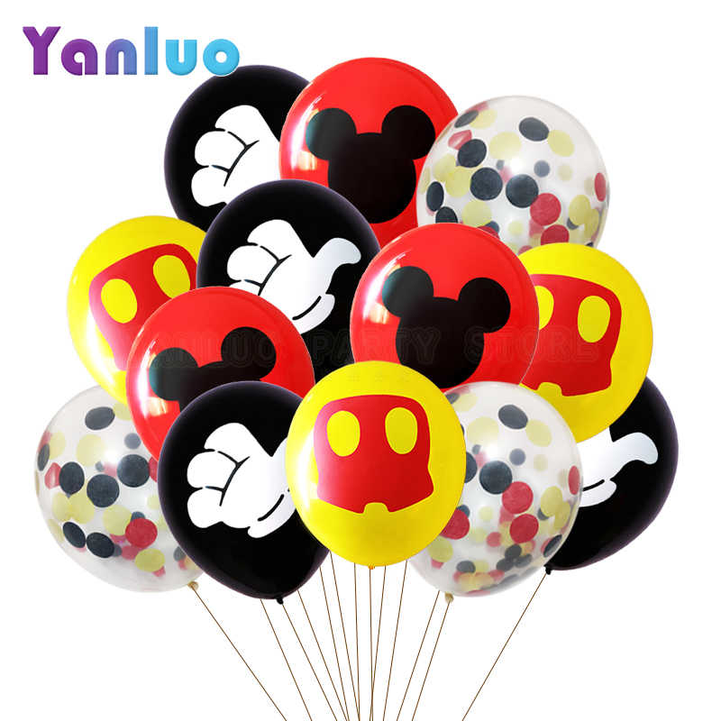 10pcs Mickey Mouse Party Latex Balloons Adult Birthday Party Decorations kids Globos Cumpleanos Infantiles Baby Shower Supplies
