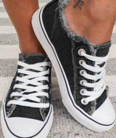 Sneakers Women Summer Flats Canvas Shoes for Women Vulcanize Shoes Sneakers Girls Low-cut Lace-up Trainers Basket Femme