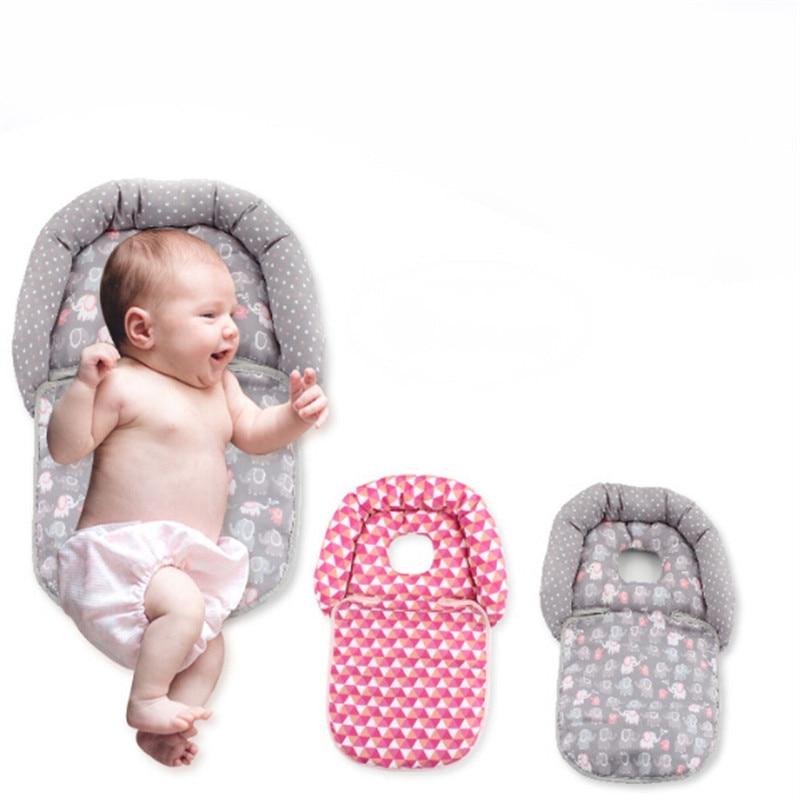 Детская стереотипная Подушка для новорожденных, складная подушка для детской тележки и рокеров, подушка для шеи, защитная подушка