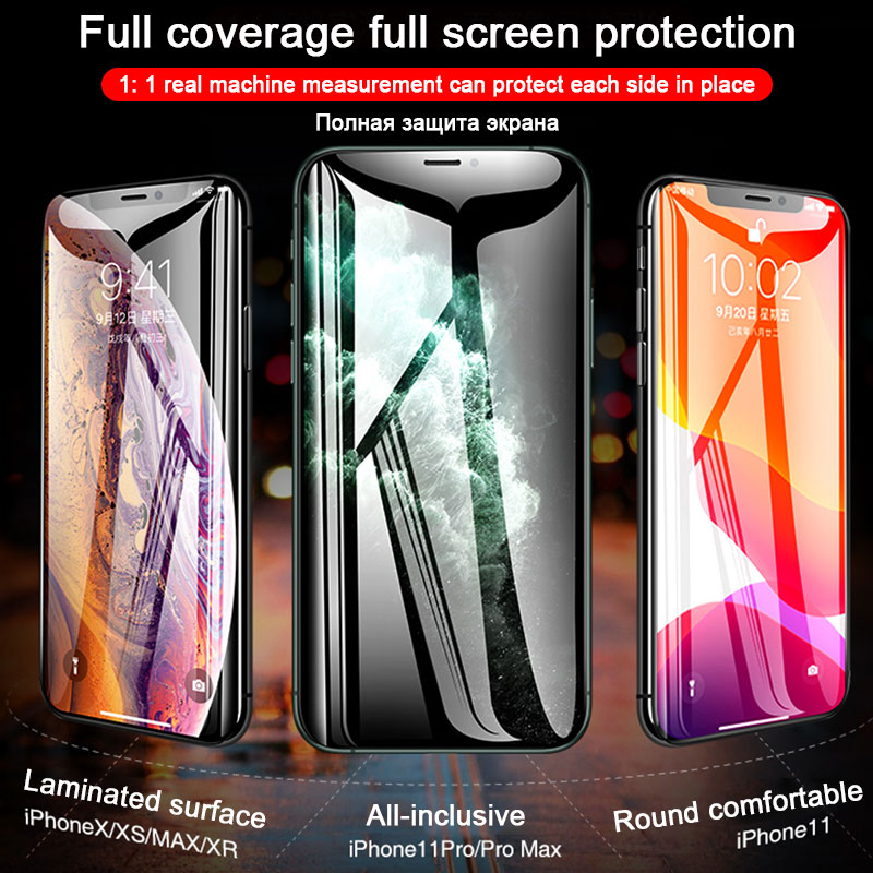 30D Full Cover Tempered Glass For iPhone 11 Pro Max Glass X XS Max XR Screen Protector Glass On For iPhone 6 6s 7 8 Plus X Film 4