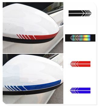 Car 2pcs stickers rearview mirror side decal stripe DIY body for Opel Astra g/gtc/j/h Corsa Antara Meriva Zafira image