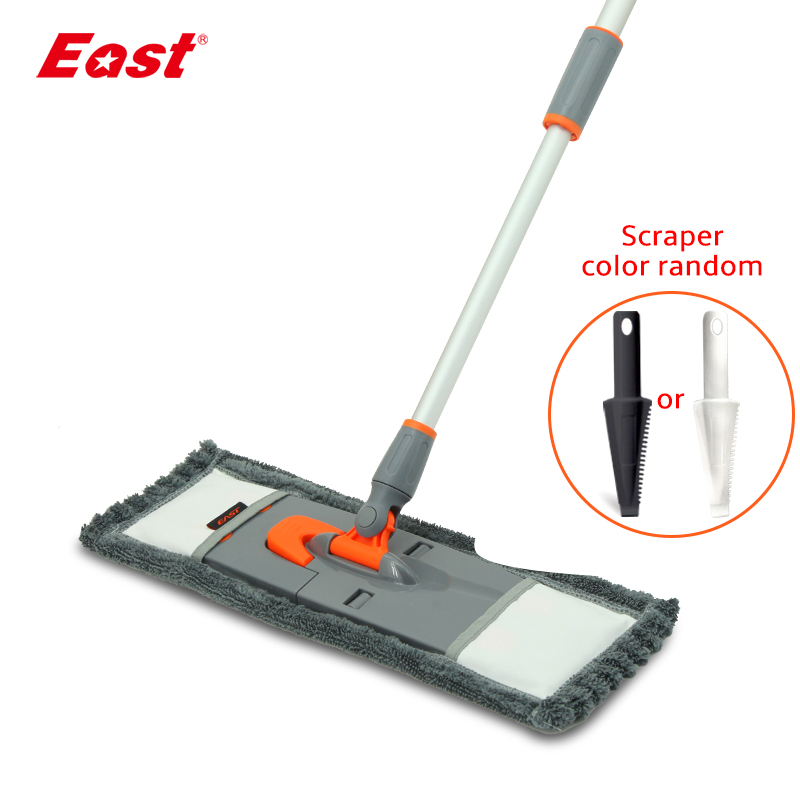 East Upgraded Flat Mop Microfiber Cloth Towel Mop Telescopic Pole Kitchen Living Room Floor Household Cleaning Helper|Mops| |  - title=