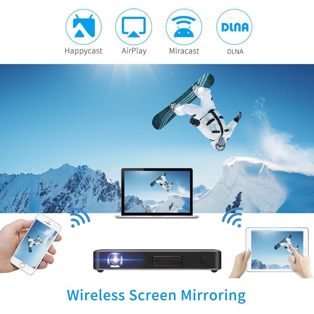 Vivicine novo atualizado p10 android 9.0 inteligente 3d 4k mini projetor, bolso wifi led vídeo game projetor beamer-2