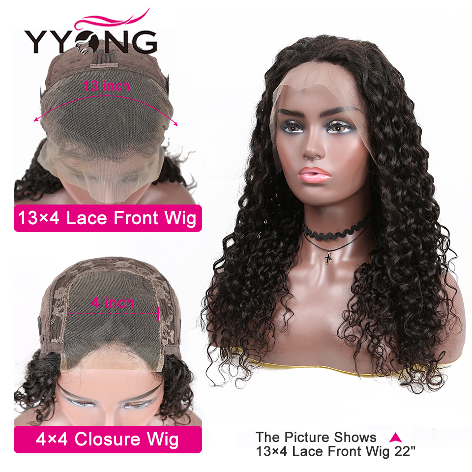 YYong Water Wave Lace Front  Wig  Water Wave Glueless  Lace Front Wigs Pre Plucked 150 Density 4