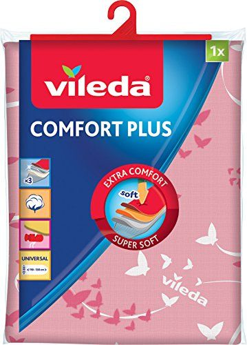 Vileda Comfort Plus Ironing Board Cover Pink Fabric 137.5 x 45.5 cm