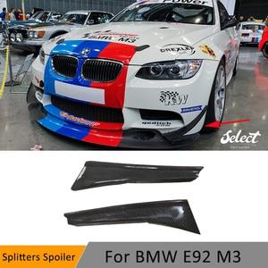 3 Series Front Bumper Side Trim Canards Splitters Spoiler for BMW E90 E92 E93 M3 2012 - 2019 Fins Shark GT4 Style Decoration