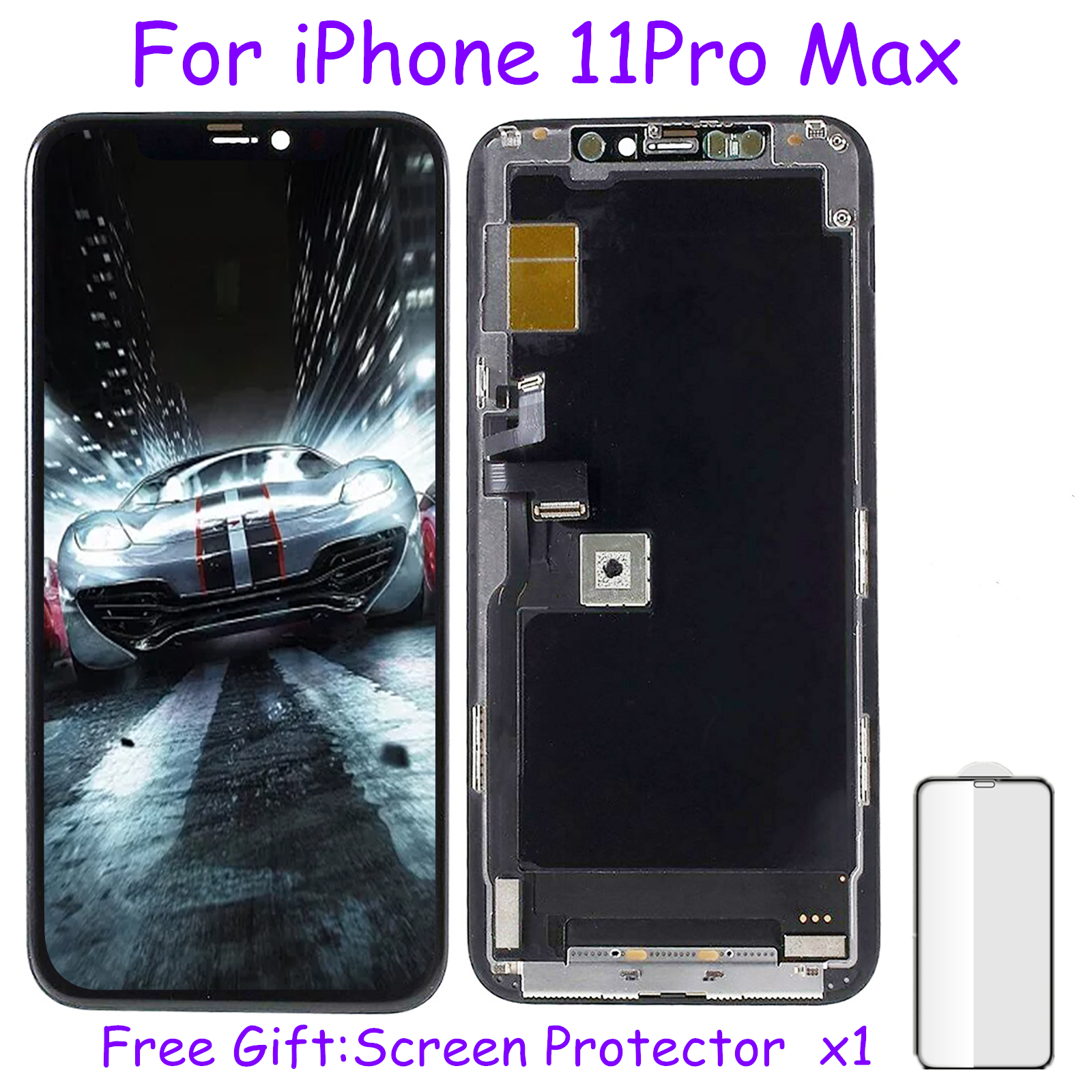 For IPhone 11 LCD Display Original For IPhone Screen Digitizer For IPhone 11 Pro Max LCD For IPhone X Assembly With Free Gift