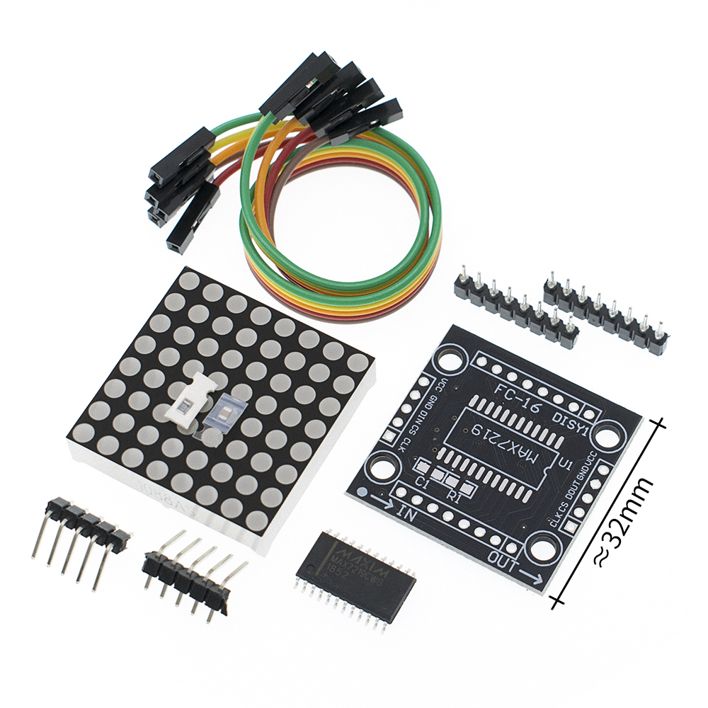 1PCS  Dot Matrix Display Module MAX7219 Single-chip Control Module DIY Kit