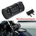 Мотоциклетный крейсер сумка для инструментов вилка бочка форма руль передний чехол для вилок черный для Harley Chopper Bobber круизер моторная кожан...