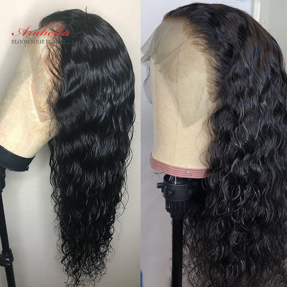 Water Wave 13*4 Lace Front Human Hair Wigs 180% Density Arabella Remy Hair PrePlucked 360 Lace Frontal Wig 13*6 Lace Front Wig