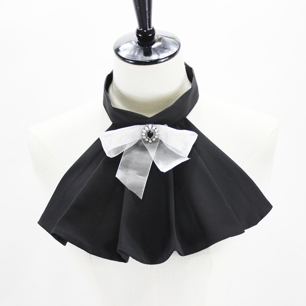 Court Lolita Bow Dickie Shirt Decoration Lead Fake Collar Detachable Necklace